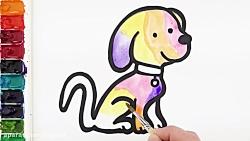 آموزش نقاشی به کودکان - سگ و سوسک پرنده