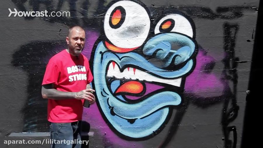 چگونه با هنر گرافیتی، یک هیولا را ترسیم کنیم