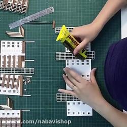 ساخت ماکت معماری با مقوا ماکت مشکی و سفید مغز کرافت