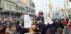 وداع باشکوه با پیکر شهیدان در کاظمین