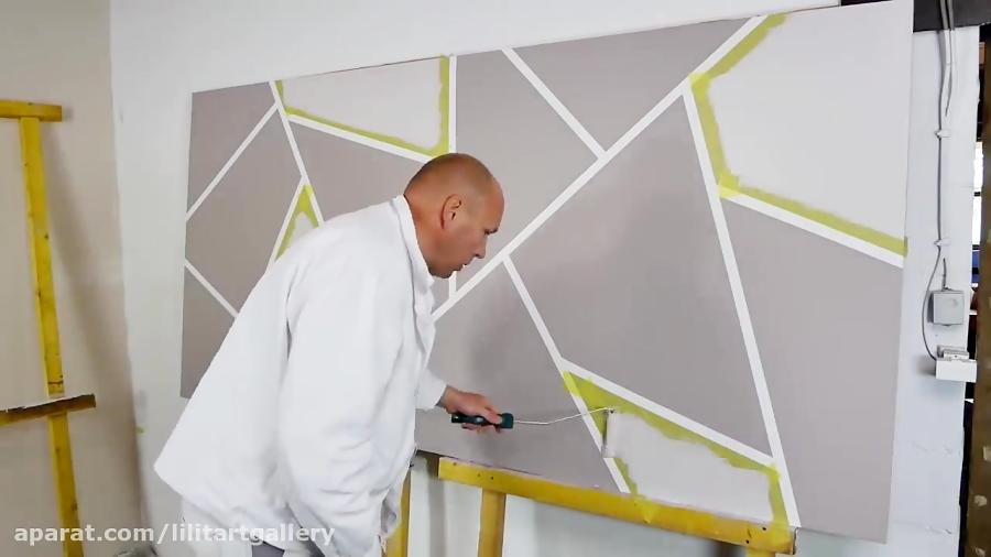 روش جالب طراحی دیوار اتاق پذیرایی