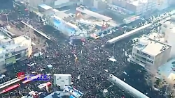 تصاویر هوایی از مراسم تشییع پیکر سردار شهید قاسم سلیمانی در تهران