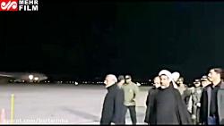 ورود پیکر مطهر سردار شهید سلیمانی به فرودگاه کرمان