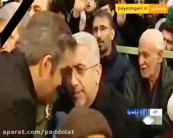 وزیر نیرو در مراسم تشییع سردار شهید حاج قاسم سلیمانی