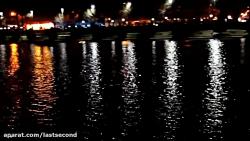 زاینده رود در شب