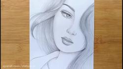آموزش نقاشی یک دختر