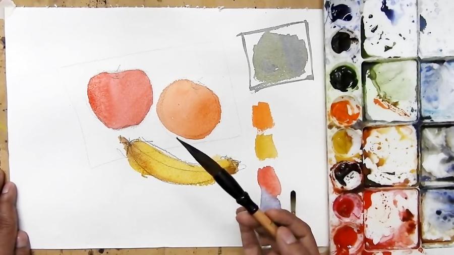 یادگیری روشی ساده برای کشیدن نقاشی آبرنگ
