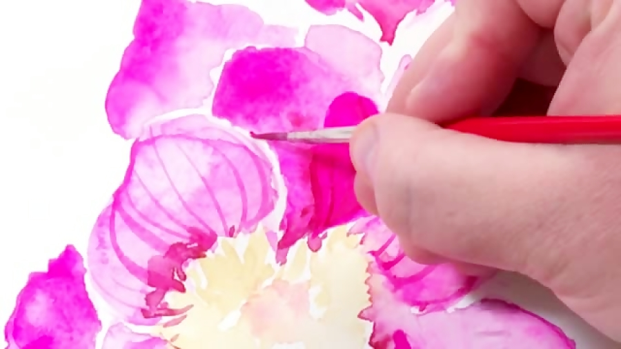 آموزش کشیدن نقاشی گلهای زیبا با تکنیک آبرنگ