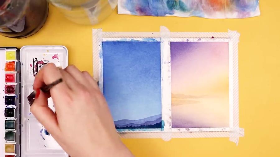 گرادینت و محو کردن رنگها در تکنیک آبرنگ