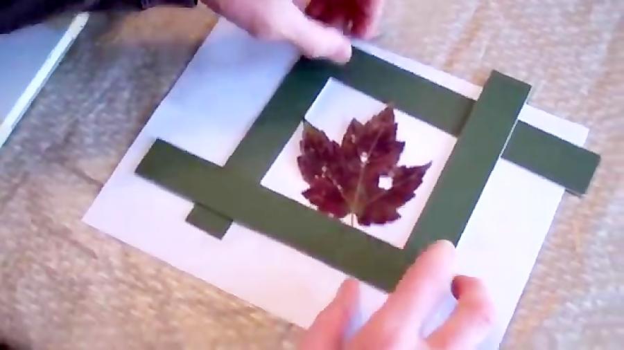 نقاشی آبرنگ از روی یک برگ