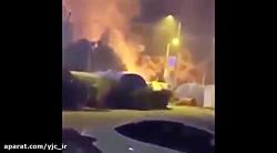 لحظه اصابت موشک های سپاه به اهداف تعیین شده در مقر آمریکایی