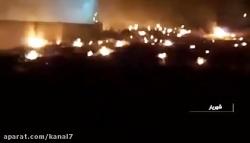 تصاویر اولیه از حریق هواپیمای اوکراینی در منطقه شهریار تهران