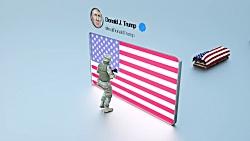 ببینید|ترامپ چگونه سربازان آمریکایی را افقی از خاورمیانه خارج می کند؟