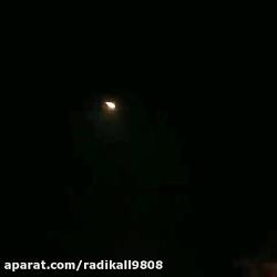 لحظه سقوط هواپیمای اوکراینی در حوالی شهریار تهران