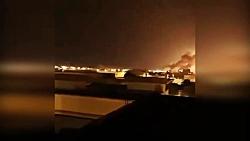 فیلمی جدید از حمله به پایگاه آمریکا توسط موشک های سپاه