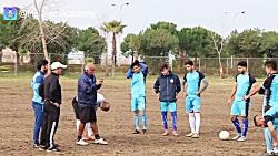 آخرین تمرین امید ملوان در مجموعه ورزشی هتل سفیدکنار قبل سفر به قائم شهر