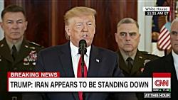 کنفرانس خبری ترامپ پس از حمله موشکی ایران