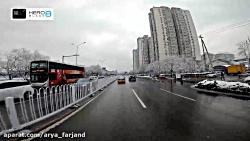 زندگی یک دانشجوی ایرانی در پکن (موتور سواری به سمت محل کار در روز برفی)