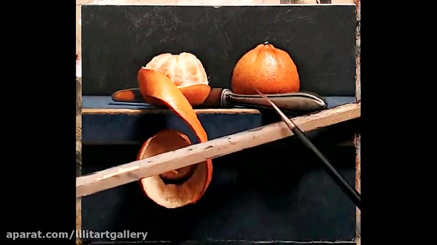 آموزش نقاشی زیبای آبرنگی از طبیعت بیجان