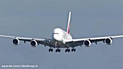 لندینگ بسیار دشوار هواپیما غول پیکر AIRBUS A380