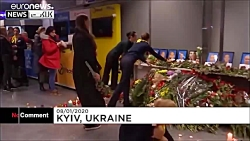 ادای احترام مردم کییف به تیم پروازی هواپیمای اوکراینی