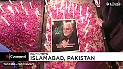 زنان شیعه پاکستانی در یادبود قاسم سلیمانی شمع روشن کردند