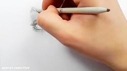 نقاشی چهره به سیاه قلم