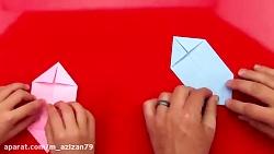 اوریگامی عید پاک - آموزش ساخت عید پاک کاغذی - کاردستی