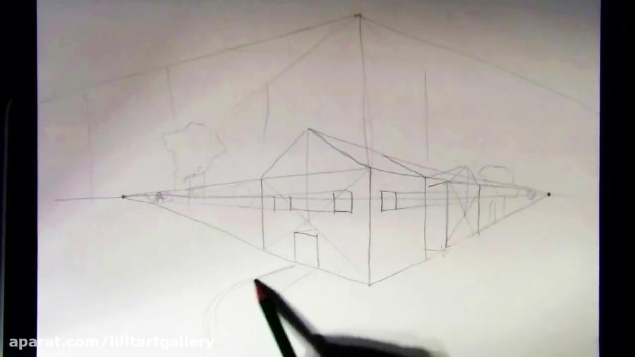 آموزش طراحی پرسپکتیو دو نقطه ای – درس ۵