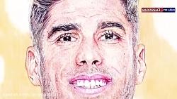 طراحی چهره مارکو آسنسیو بازیکن تیم رئال مادرید