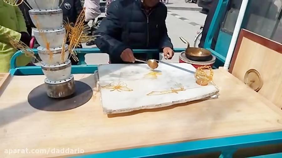 ساخت غذای هنری توسط آشپز چینی برای بچه های شکمو