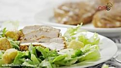 طرز تهیه سینه مرغ اسپایسی غذای خوشمزه برای دیابتی ها (میرزاشف)