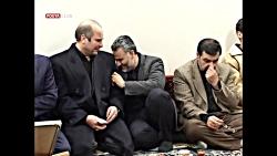 گریه و بی تابی شهید قاسم سلیمانی در مراسم شهید احمد کاظمی