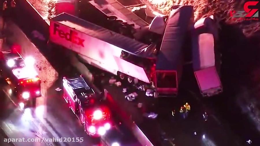 تصادف زنجیره ای وحشتناک فجیع در پنسیلوانیا
