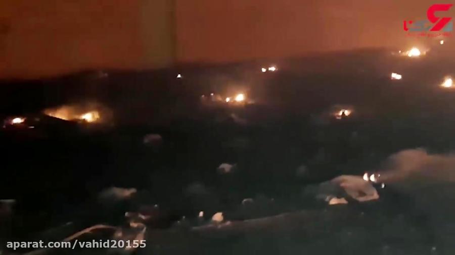 فیلم اولین صحنه های دلخراش از سقوط هواپیمای اوکراین / دشتی از آتش و خون