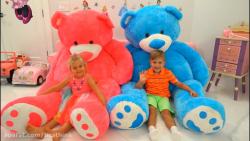 دیانا و روما ، بازی با خرس های بزرگ تدی
