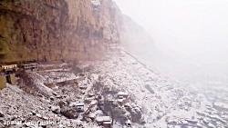 زمستان و بارش برف در شهر ماکو