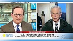 اعتراف پنتاگون به زخمی شدن ده ها نظامی آمریکا در پی حمله موشکی سپاه