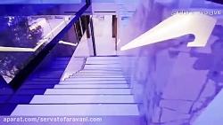 ویلای مدرن با نورپردازی خارجی و داخلی زیبا
