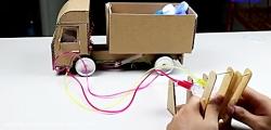 ساخت ماشین کمپرسی با وسایل دور ریختی بسیار زیبا