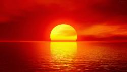 لحظه غروب خورشید در دل ...