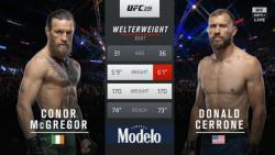 یو اف سی 246 UFC؛ مبارزه کامل کانر مک گرگور - دانلد سرونی