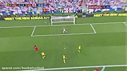 خلاصه بازی سوئد و انگلی...