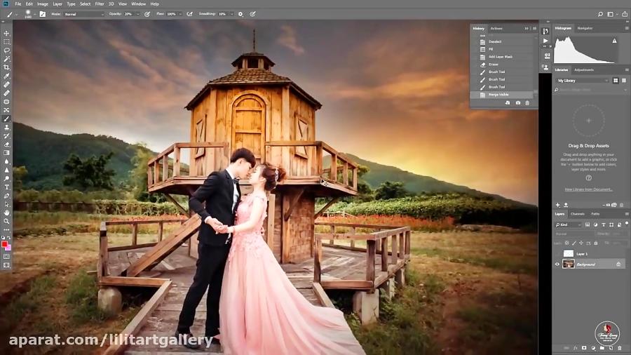 آموزش خلق عکس رویایی با فتوشاپ