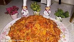 طرز تهیه ته دیگ مرغ بسیار خوشمزه و مجلسی همراه با خاله سیما