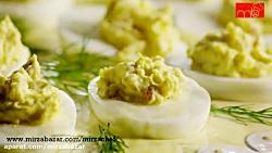 بیکن و تخم مرغ با پنیر چدار (میرزاشف)