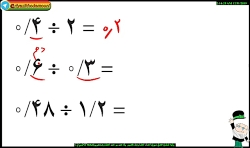 ریاضی ششم - روش ذهنی تقسیم اعشاری ( تمرین ص ۵۹ )