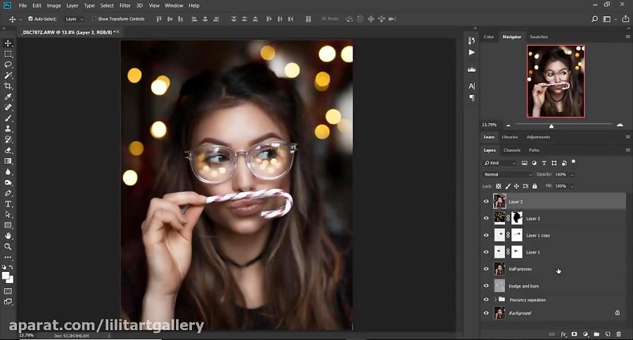 آموزش بهبود تصویر و رویایی کردن عکس در فتوشاپ