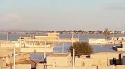 جنید سندی، نمایی از سیلاب ۹۸/۱۰/۲۲ در روستای سنده حمزه