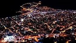 فیلم هوایی از شب شهر آلانیا